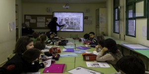 Alumnado en clase de euskera