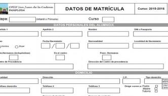 Matriculación alumnado admitido 2017-18