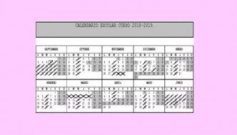 Calendario y material curso 18-19