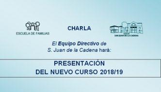 Reunión Equipo Directivo-Familias